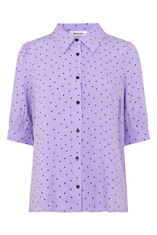 Modström - Skjorte - Talle Print Shirt - Lavender Polka