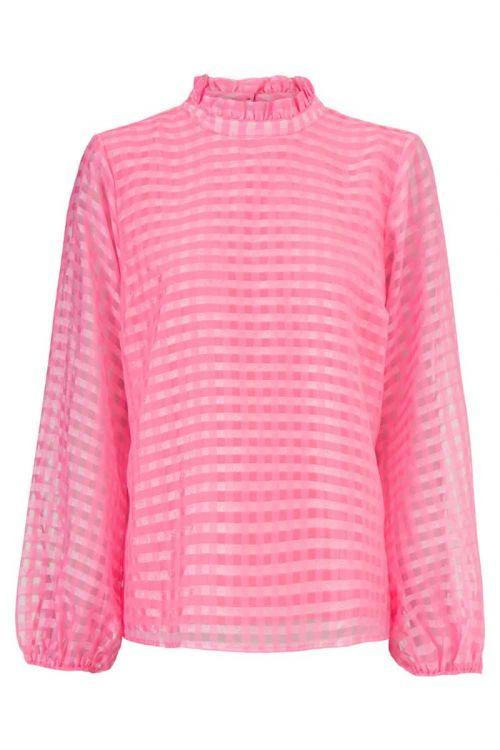 Modström Skjorte Tatty Taffy Pink Front
