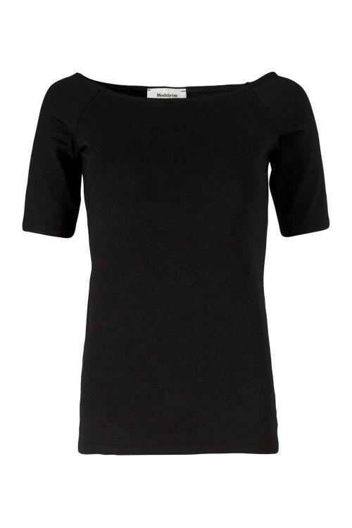 Modström T-shirt Tansy Top Black Front