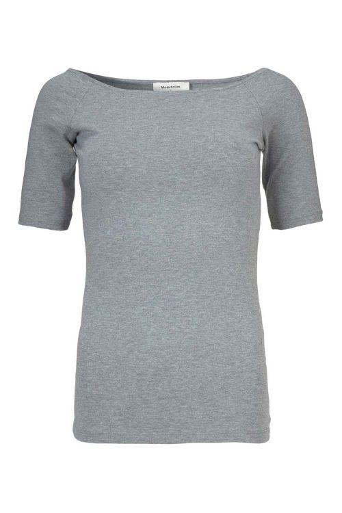 Modström T-shirt Tansy Top Grey Melange Front1