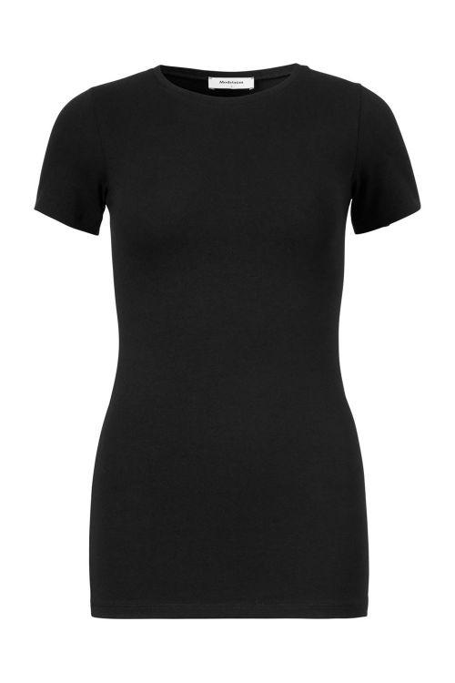 Modström T-shirt True T-shirt Black Front