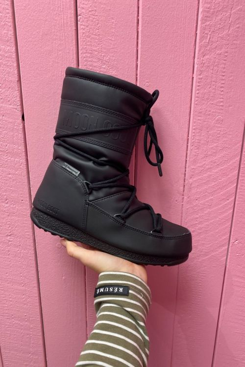 Moon Boot MB Mid Rubber BLACK Front