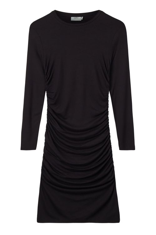Moves By Minimum Kjole Beala Solid Black Front