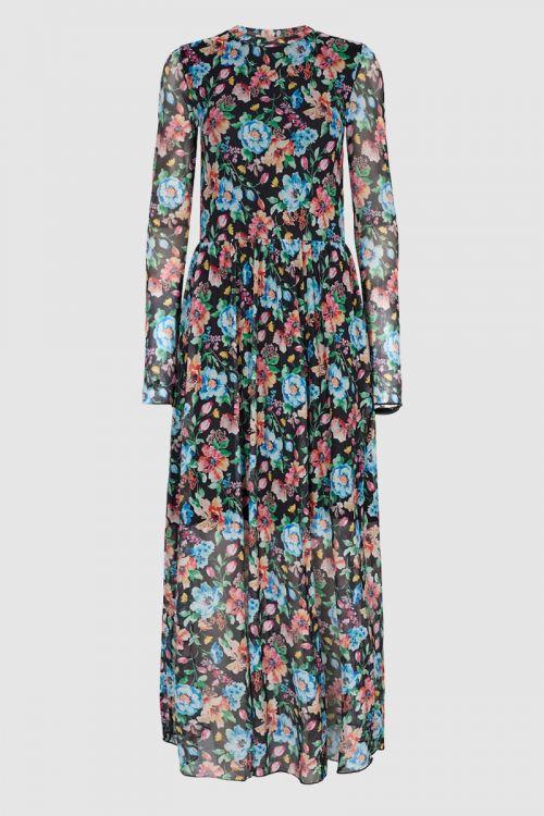 Moves by Minimum Kjole Marisan Dress Black Flower Front