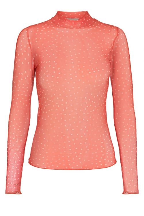 Moves By Minimum Bluse Filana Hot Coral Front