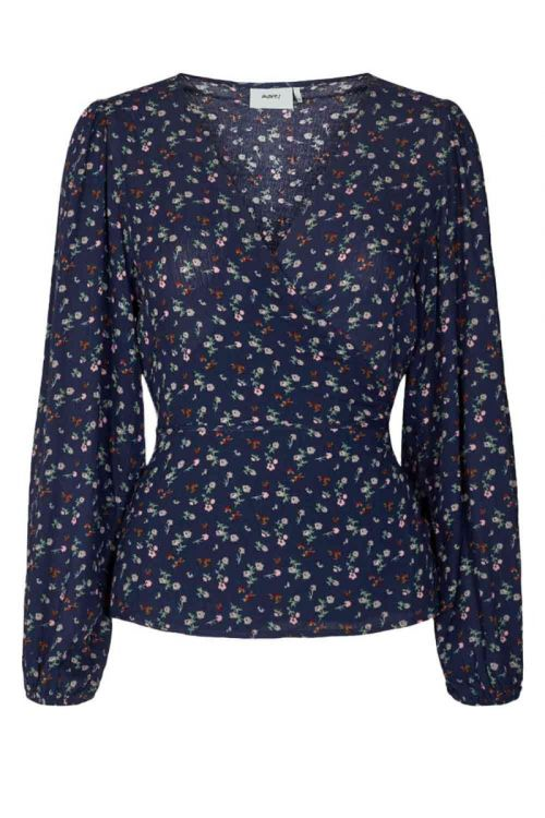 Moves By Minimum - Bluse - Wrapsi  Shirt - Navy blazer