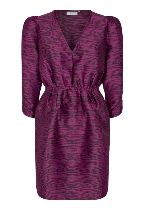 Moves By Minimum Kjole Willas Dress Pink Violet Front