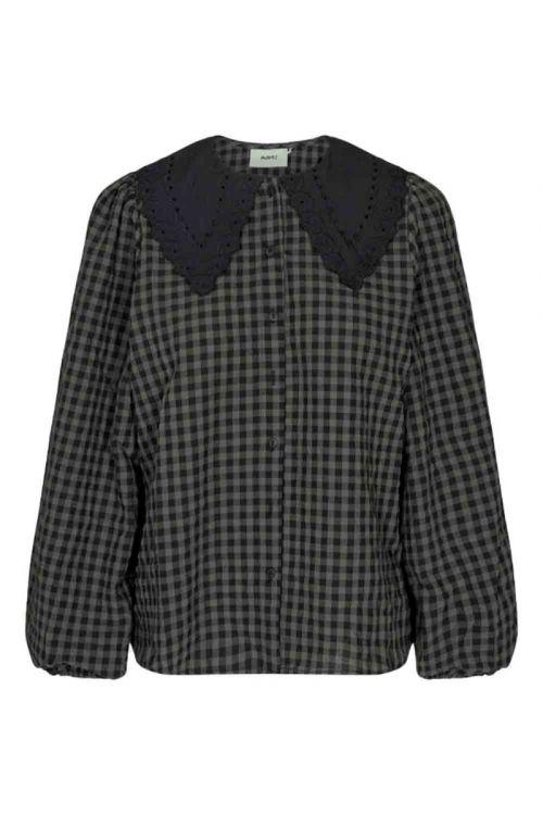 Moves By Minimum Skjorte Kalli Smoked Grey Front