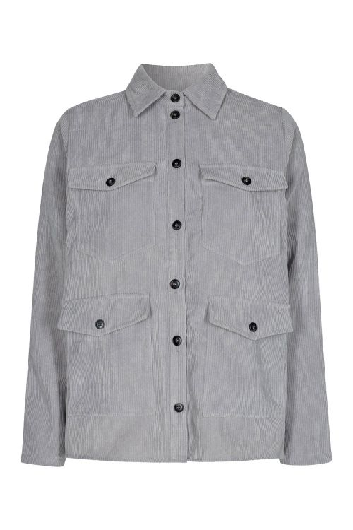 Moves By Minimum Skjorte Assu Light Grey Front1