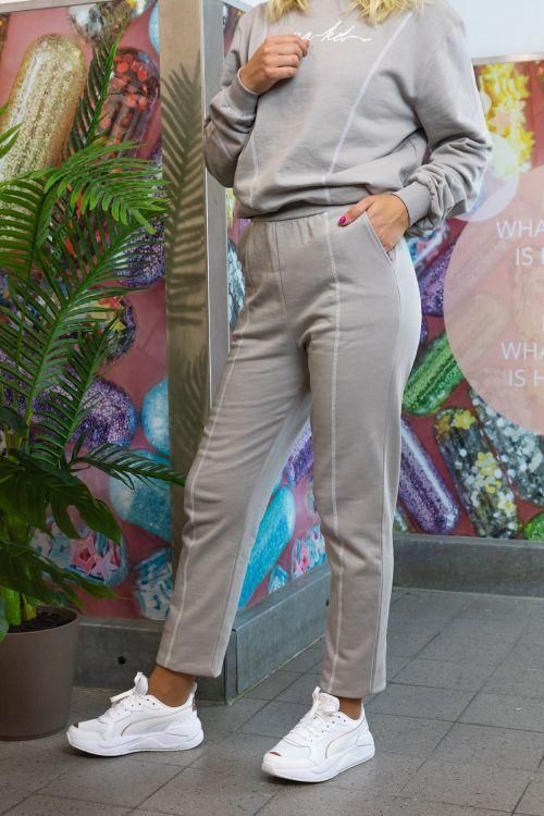 NA-KD Bukser Contrast Stitch Sweatpants Grey Front