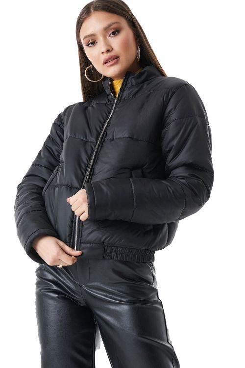 NA-KD Jakke Short Puffer Jacket Black Front
