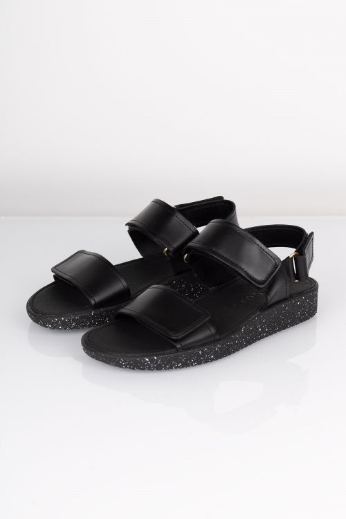 Nature Sandal Karen Elk W Matching Sole Black Front
