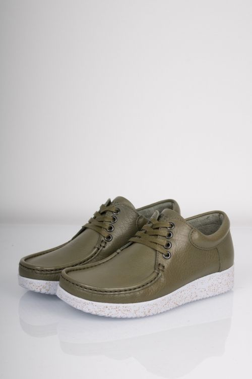 Nature Sko Anna Leather Dusty Green Front