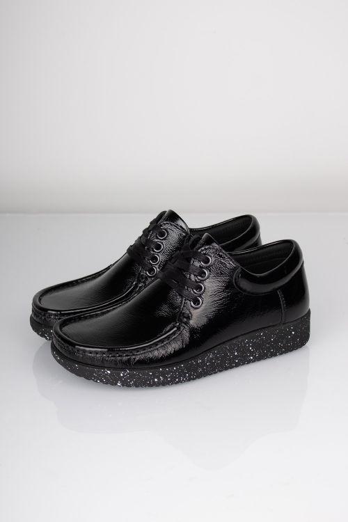 Nature Sko Anna Leather Black Front
