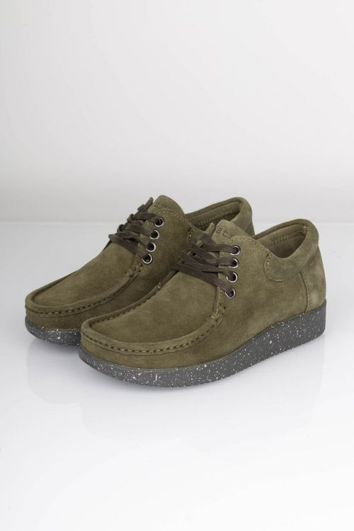 Nature - Sko - Anna Suede - Army Green Front