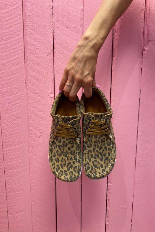 Nature Sko Anna Suede Print Leopard Front
