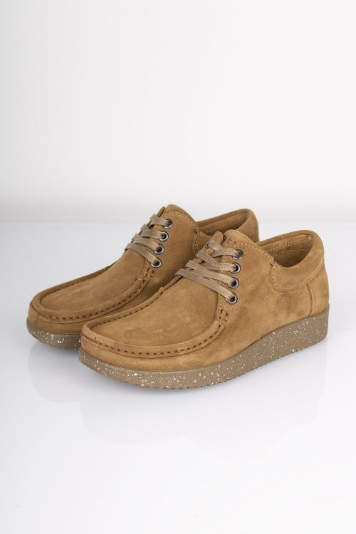 Nature Sko Anna Suede WR W. Matching Sole Moss Green Front