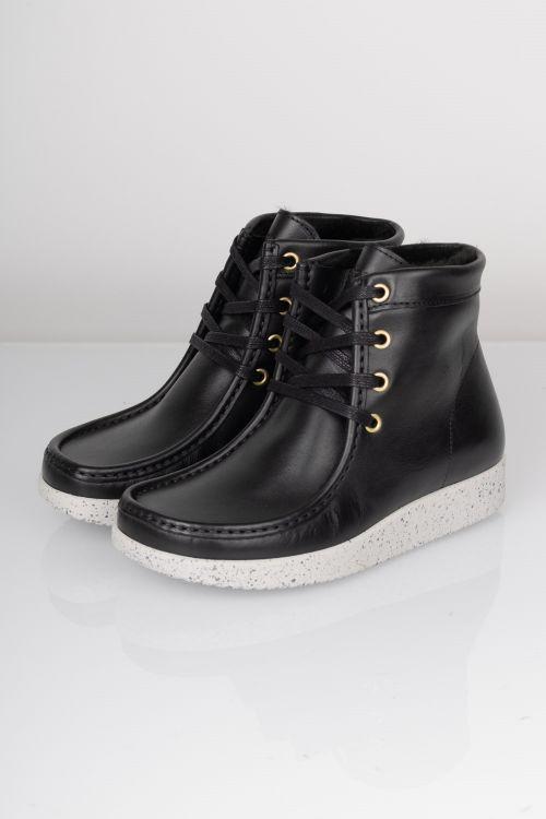 Nature Sko Asta Leather Black Front