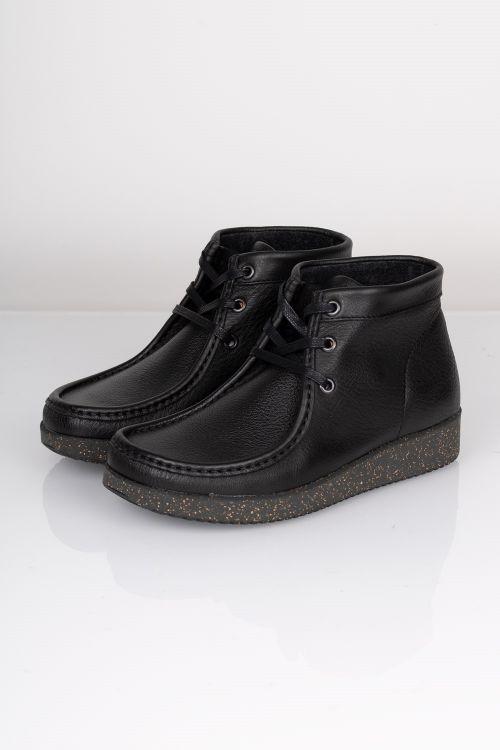 Nature Sko Emma Leather Black Front
