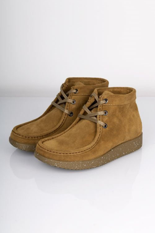 Nature Sko Emma Suede WR W Matching Sole Moss Green Front