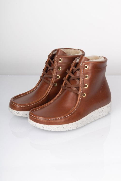 Nature  Sko  Asta  Leather Tobacco Front