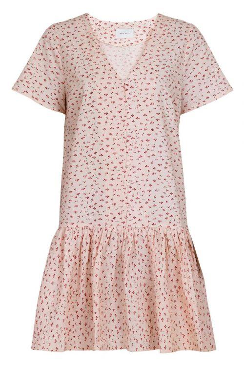 Neo Noir - Kjole - Ilsa Mini Cherry Dress - Light pink