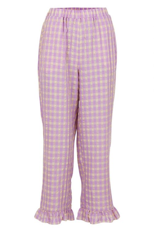 Neo Noir - Bukser - Ina Candy Check Pants - Lavender