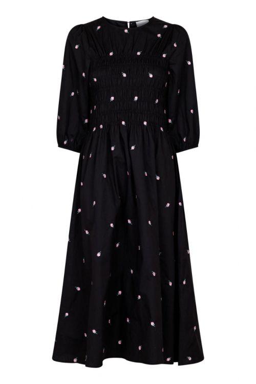 Neo Noir - Kjole - Aries Rose Dress - Black
