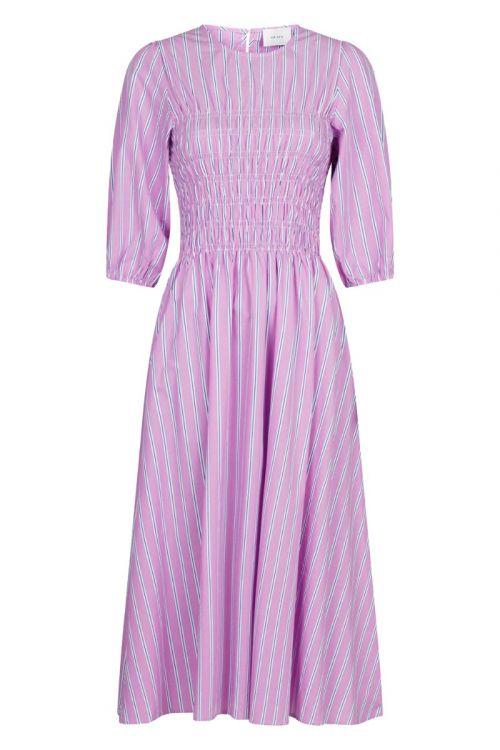Neo Noir Kjole Aries Stripe Dress Lavender Front