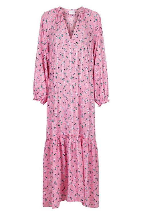 Neo Noir - Kjole - Hallas Energy Flower Dress - Pink
