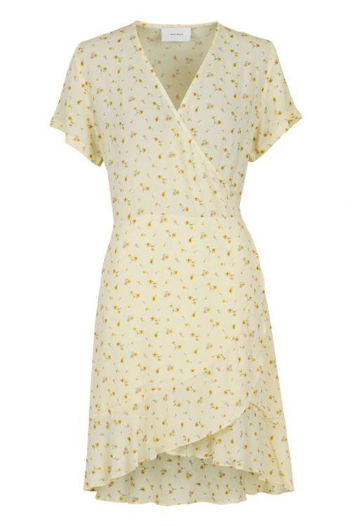Neo Noir - Kjole - Malta Single Blossom Dress - Light Yellow