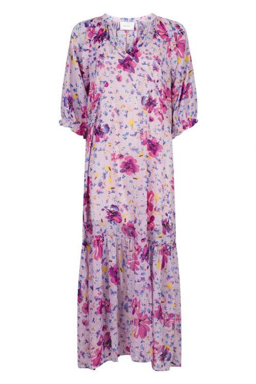 Neo Noir - Kjole - Milla Bright Flower Dress - Lilac