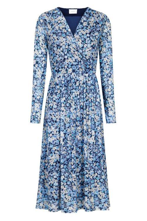 Neo Noir - Kjole - Samy Blossom Mesh Dress - Blue