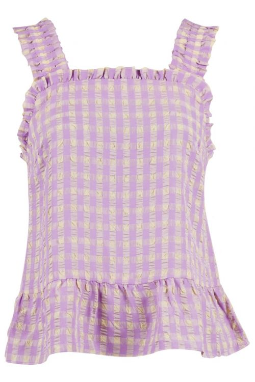 Neo Noir Top Limma Candy Check Top Lavender Front