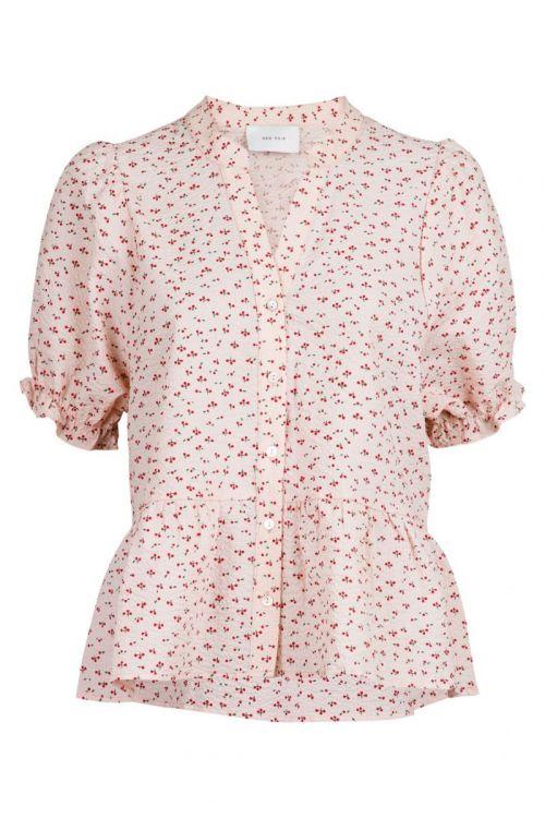 Neo Noir - T-shirt - Savy Mini Cherry Tee - Light pink