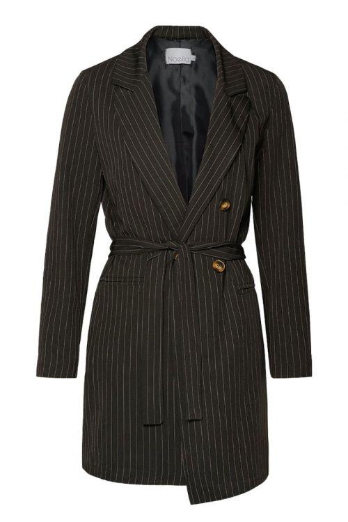 Noella - Blazer - Forte Blazer Dress - Black Pinstripe