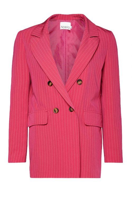 Noella - Blazer - Forte Blazer - Pink Pinstripe