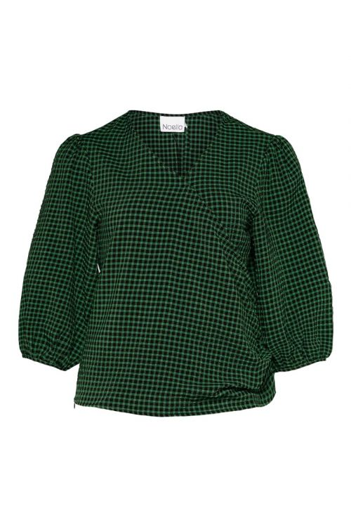 Noella Bluse Felicia Blouse Black/green Check Front