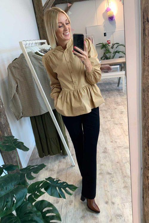 Noella Bluse Rose Blouse Camel Hover