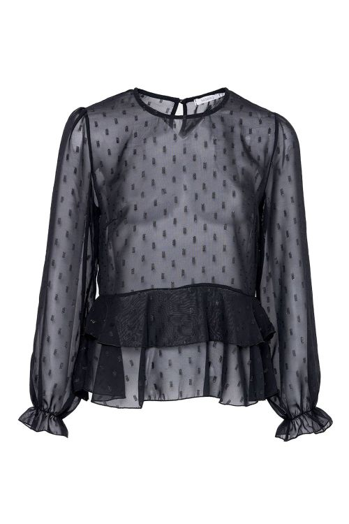 Noella Bluse Zues Blouse Black Front