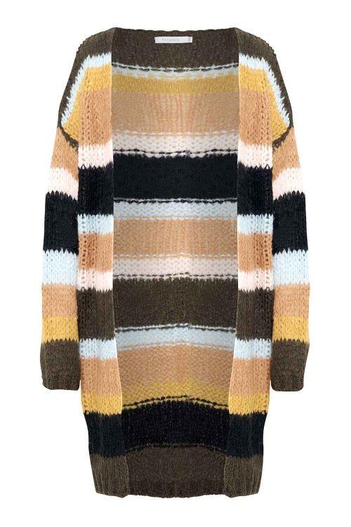 Noella Cardigan Kala Cardigan Brown Stripes Front