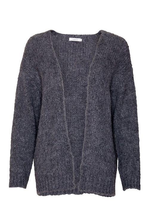 Noella Cardigan Kala Knit Cardigan Dark Grey Melange Front