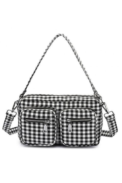 Noella Taske Celina Crossover Bag Black/White Checks Front
