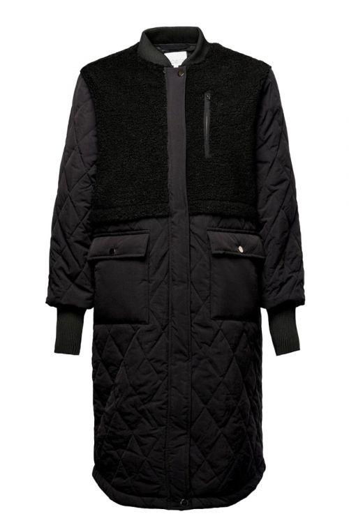 Noella - Jakke - Etta Pile Coat Solid - Black