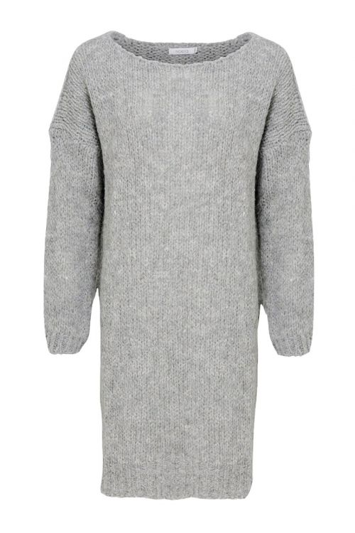 Noella - Strik - Kala Knit Dress - Light Grey Melange