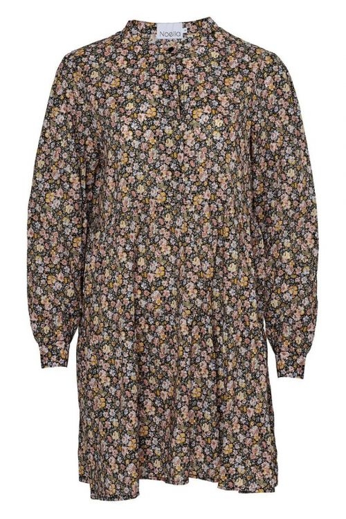 Noella - Kjole - Alexa Dress Cotton - Camel Mix Flower Print