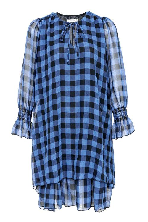 Noella Kjole Cassy Dress Black/Blue Checks Front