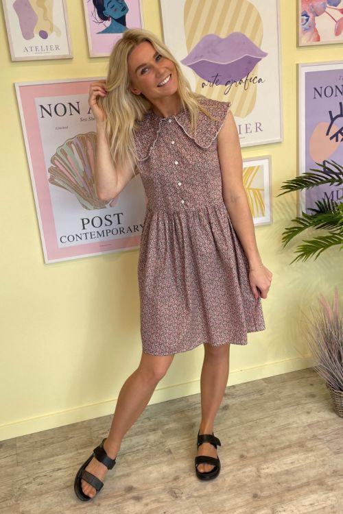 Noella - Kjole - Cilla Dress - Pink Flower