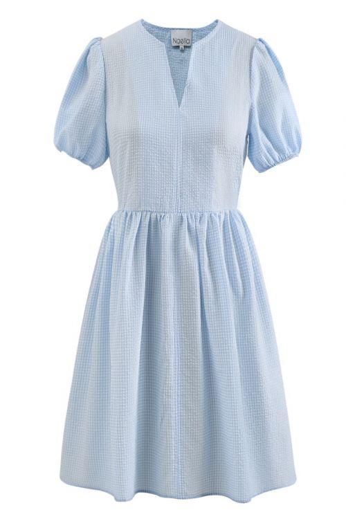 Noella - Kjole - Cora Dress - Lightblue Checks
