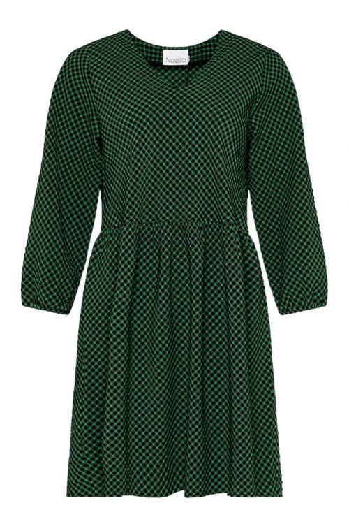 Noella Kjole Hanna Dress Black/Green Check Front